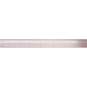 "Westcott® C-Thru® 24"" English/Metric Ruler; Color: Clear; Material: Plastic; Size: 24""; Type: Ruler; (model B97), price per each"