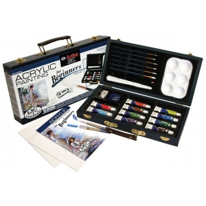 Royal & Langnickel® Acrylic Painting for Beginners Set; Color: Multi; Type: Acrylic; (model RSET-ACRY3000), price per set