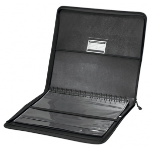 """Prestige™ Studio™ Series Presentation Case 11"""" x 14""""; Color: Black/Gray; Material: Polypropylene; Page Count: 10 Pages, 10 Protective Sleeves; Size: 11"""" x 14""""; (model LCP1114), price per each"""