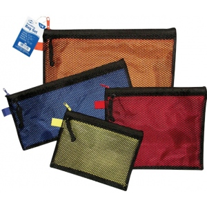 "Alvin® 4-Piece Everything Bag Set; Color: Multi; Material: Mesh; Size: 10"" x 13"", 4 3/4"" x 12 1/2"", 6"" x 8"", 8 1/4"" x 10""; (model EB4), price per set"