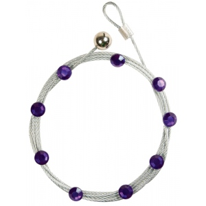 """Mishu Mighty Magnet Photo Cable Purple Bling: Purple, 57"""", Circle, Cable, (model M885), price per each"""