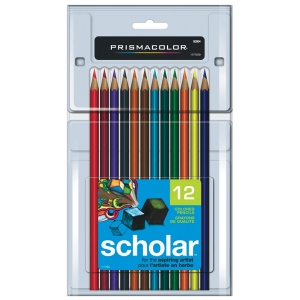 Prismacolor® Scholar® Colored Pencil 12-Color Set; Color: Multi; (model PS312), price per set