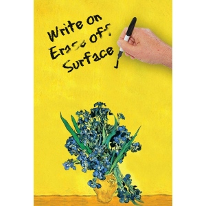 "JOTz SPOTz Irises by Van Gogh Dry Erase Image Board; Size: 10"" x 14""; Type: Dry Erase; (model MA8308), price per each"
