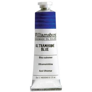 Williamsburg® Handmade Oil Paint 37ml Ultramarine Blue: Blue, Tube, 37 ml, Oil, (model 6000942-9), price per tube
