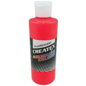 Createx™ Airbrush Paint 4oz Fluorescent Red; Color: Red/Pink; Format: Bottle; Size: 4 oz; Type: Airbrush; (model 5408-04), price per each