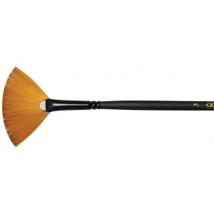 Royal & Langnickel® Majestic Taklon Acrylic and Oil Brush Fan 6; Grade: Best; Length: Long Handle; Material: Taklon; Shape: Fan; Type: Acrylic, Oil; (model R4100FB-6), price per each