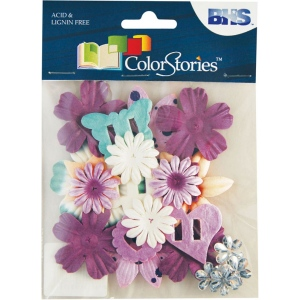 "Blue Hills Studio™ ColorStories™ Handmade Paper Potpourri Purple; Color: Purple; Material: Paper; Size: 2 1/4""; Type: Dimensional; (model BHS10510), price per each"