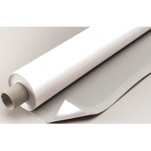 "Alvin® VYCO Gray/White Board Cover 37 1/2"" x 10yd; Color: Black/Gray, White/Ivory; Format: Roll; Material: Vinyl; Size: 37 1/2"" x 10 yd; (model VBC77/37), price per roll"