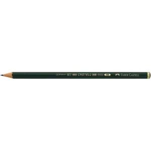 Faber-Castell® 9000 Black Lead Pencil 6B: Black/Gray, 6B, (model FC119006), price per dozen (12-pack)