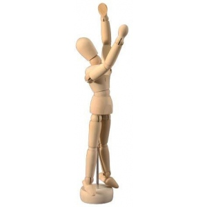"Heritage Arts™ Unisex Manikin 5 1/2""; Material: Wood; Size: 5 1/2""; Type: Mannequin; (model CW200), price per each"