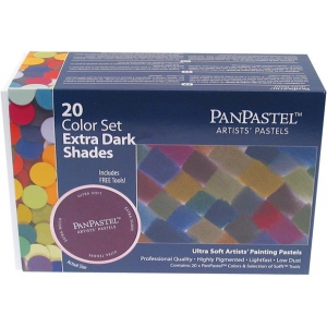 PanPastel® Ultra Soft Painting Pastels Extra Dark Shade 20-Set; Color: Multi; Format: Pan; Type: Ultra Soft; (model PP30207), price per set
