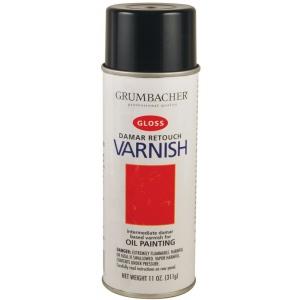 Grumbacher® Retouch Varnish Spray 11oz: Bottle, 11 oz, Varnish, (model GB544), price per each