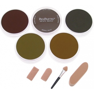 PanPastel® Ultra Soft Painting Pastels Extra Dark Earth Set; Color: Multi; Format: Pan; Type: Ultra Soft; (model PP30058), price per set