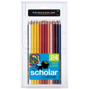 Prismacolor® Scholar® Colored Pencil 24-Color Set; Color: Multi; (model PS324), price per set