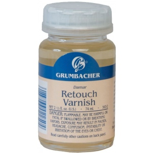Grumbacher® Retouch Varnish 74ml; Format: Bottle; Size: 2.5 oz; Type: Varnish; (model GB5632), price per each
