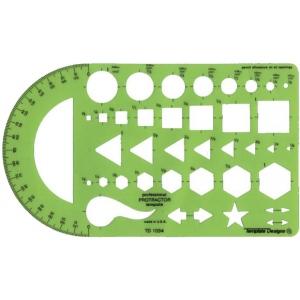 "Alvin® General Purpose Protractor Template: 1/8"" - 1"", (model TD1034), price per each"