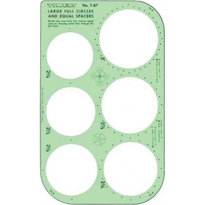 "Timely® Full Circles & Equal Spacer Template; Scale: 2 3/8"" - 3""; (model 87T), price per each"