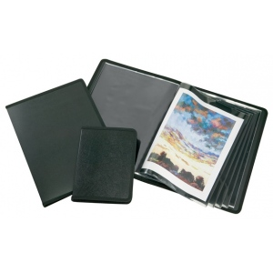 "Alvin® Art Presentation Book 9"" x 12"": Black/Gray, Polypropylene, 24 Pages, 9"" x 12"", (model APB0912), price per each"