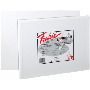 "Fredrix® Artist Series 9 x 12 Canvas Panel: White/Ivory, Panel/Board, 12-Pack, 9"" x 12"", Stretched, (model T3010), price per 12-Pack"