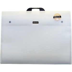 "Dekko Polypropylene Folio 14"" x 18"" Crystal White: White/Ivory, Polypropylene, 14"" x 18"", (model DK0408), price per each"