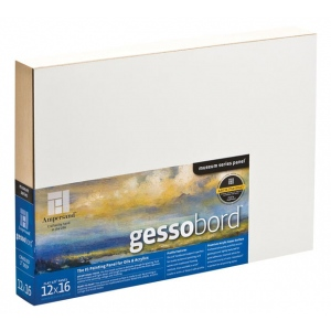 "Ampersand™ Gessobord™ Cradled 6 x 24: White/Ivory, Panel/Board, 6"" x 24"", Gesso, (model GBWC624), price per each"