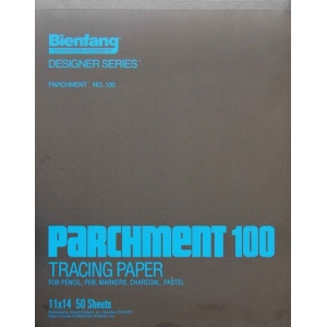 "Bienfang® 11"" x 14"" Parchment Tracing Pad; Format: Pad; Quantity: 50 Sheets; Size: 11"" x 14""; Type: Tracing; (model 240130), price per 50 Sheets pad"
