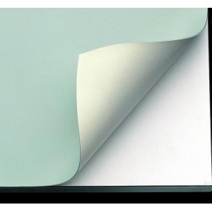 "Alvin® VYCO Green/Cream Board Cover 43 1/2"" x 84""; Color: Green, White/Ivory; Format: Sheet; Material: Vinyl; Size: 43 1/2"" x 84""; (model VBC44-14), price per each"