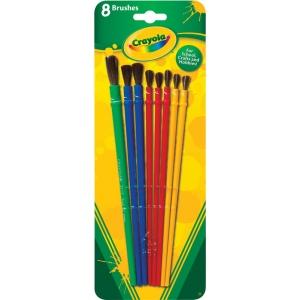 Crayola® Art and Craft 8-Piece Brush Set; Type: Multimedia; (model 05-3516), price per set