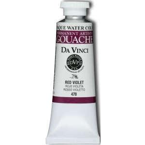 Da Vinci Artists' Gouache Opaque Watercolor 37ml Red Violet; Color: Purple, Red/Pink; Format: Tube; Size: 37 ml; Type: Gouache, Watercolor; (model DAV478), price per tube