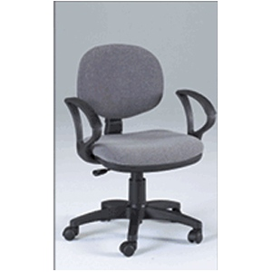 Martin Stanford Desk Height Seating Chair: Black