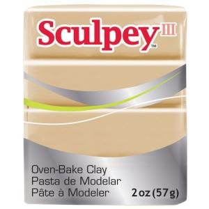 Sculpey® III Polymer Clay Tan: Brown, Bar, Polymer, 2 oz, (model S302301), price per each