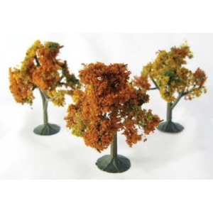"Wee Scapes Architectural Model Autumn Tree: Size 2.25""-2.5"", Pack of 3"