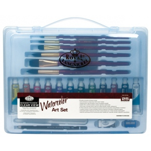 Royal & Langnickel® Essentials™ Clear View Watercolor Painting Set; Color: Multi; Type: Watercolor; (model RSET-ART3203), price per set