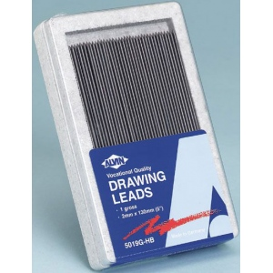 Alvin® Constant 2mm Drawing Lead Gross-Pack H; Degree: H; Lead Color: Black/Gray; Lead Size: 2mm; Quantity: 144-Pack; Type: Drawing Lead; (model 5019G-H), price per 144-Pack gross-pack