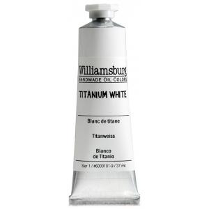 Williamsburg® Handmade Oil Paint 37ml Titanium White: White/Ivory, Tube, 37 ml, Oil, (model 6000101-9), price per tube