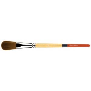 Princeton™ Snap! Golden Taklon Short Handle Brush Watercolor and Acrylic Brush Oval Wash 3/4; Length: Short Handle; Material: Taklon; Shape: Oval Wash; Type: Acrylic, Watercolor; (model 9650OV-075), price per each