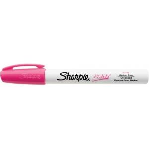Sharpie® Oil Paint Marker Medium Pink; Color: Red/Pink; Ink Type: Paint; Tip Type: Medium Nib; (model SN35555), price per each