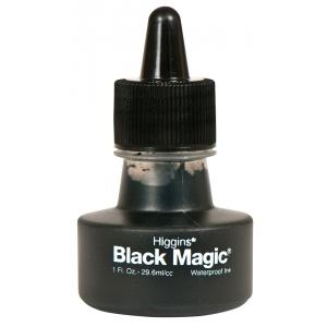Higgins® Black Magic® Waterproof Ink; Color: Black/Gray; Format: Bottle; Ink Type: Pigment; Size: 1 oz; Waterproof: Yes; (model SN44011), price per each