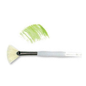 Royal & Langnickel® Soft Grip™ Stiff Hog Bristle Fan Brush 4; Material: Stiff Hog Bristle; Shape: Fan; Size: 4; Type: Acrylic, Oil, Watercolor; (model RSG825-4), price per each