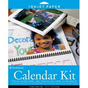 "Strathmore® 8.5"" x 11"" Inkjet Photo Calendar Kit: 8 1/2"" x 11"", Inkjet Photo Calendar Kit, (model ST59-686), price per pack"