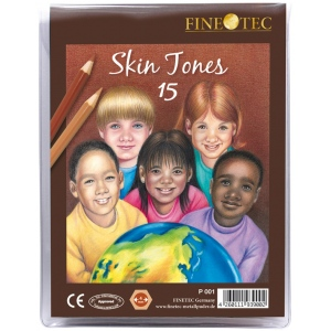Finetec 15-Color Skin Tones Pencil Set; Color: Multi; (model FTP001), price per set