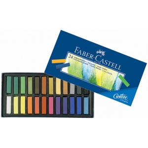 Faber-Castell® Creative Studio Soft Pastel 24-Color Set; Color: Multi; Format: Stick; Type: Soft; (model FC128224), price per set