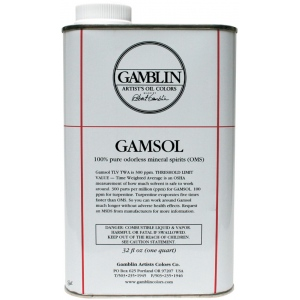 Gamblin Gamsol Oil 32oz: 32 oz, Solvents, (model G00092), price per each