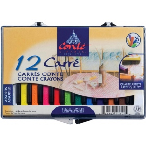 Conte™ Crayon 12-Color Assorted Set; Color: Multi; Format: Stick; (model C50128), price per set