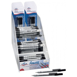 Alvin® Penstix Permanent Marker Display; Color: Black/Gray; Ink Type: Alcohol-Based; Type: Technical; (model 4015D), price per each