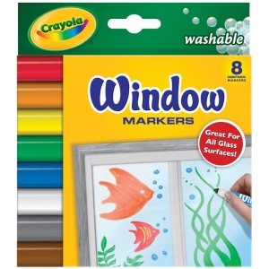 Crayola® Washable Window Marker 8-Color Set; Color: Multi; Type: Washable; (model 58-8165), price per set