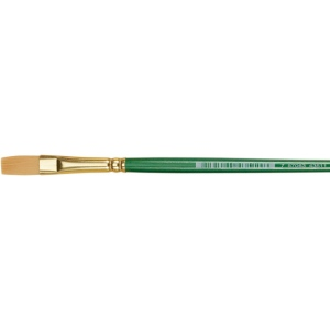 Princeton™ Good Synthetic Sable Watercolor and Acrylic Brush Stroke 025; Grade: Good; Length: Short Handle; Material: Synthetic Sable; Shape: Stroke; Type: Acrylic, Watercolor; (model 4350ST-025), price per each