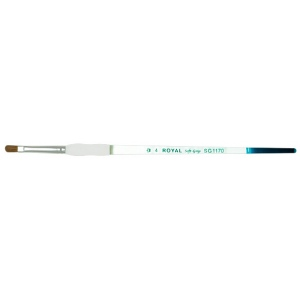 Royal & Langnickel® Soft Grip™ Sable Filbert Brush 4: Sable, Filbert, 4, Acrylic, Oil, Watercolor, (model RSG1170-4), price per each