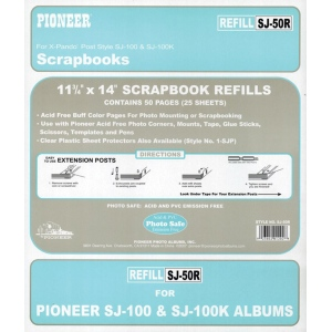 Pioneer Jumbo Scrapbook Refill: Buff Pages for SJ100, Pack of 25