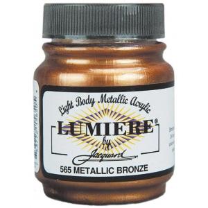 Lumiere® Pigmented Acrylic Paint Metallic Bronze; Color: Metallic; Format: Jar; Size: 2.25 oz; Type: Acrylic; (model J565), price per each